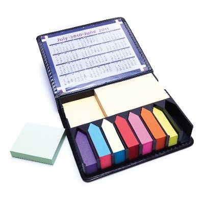 DESK15 Post-It-Notes Holder With Case, Calendar And Assorted Notes - (printed with 1 colour(s))  (DESK15_OC)