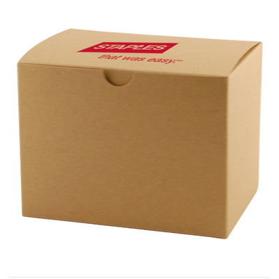 FOLD-UP GIFT BOX - NATURAL KRAFT - (printed with 1 colour(s))  (OCBMS141_OC)