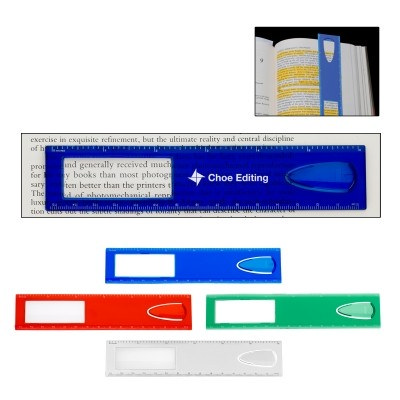 15Cm Magnifier Ruler With Bookmark