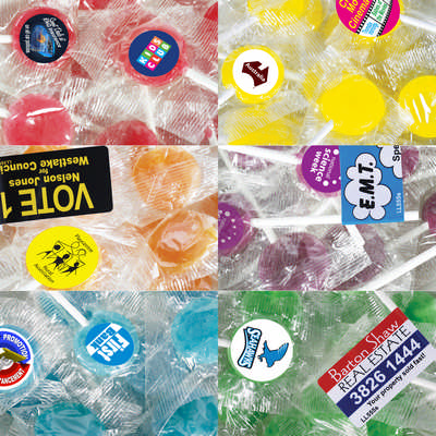Corporate Colour Lollipops - (printed with 1 colour(s)) LL560_LLNZ