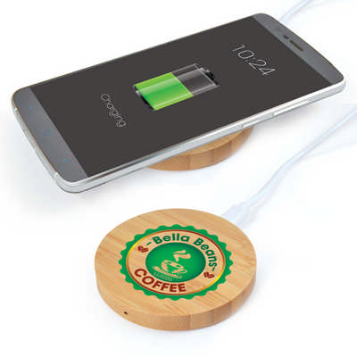 Arc Round Bamboo Wireless Charger