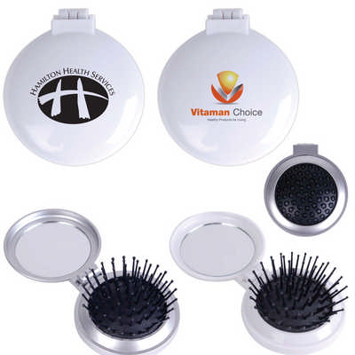 Compact Pop Up Brush / Mirror Set