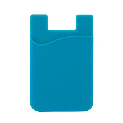 Silicone Phone Card Holder - Cyan