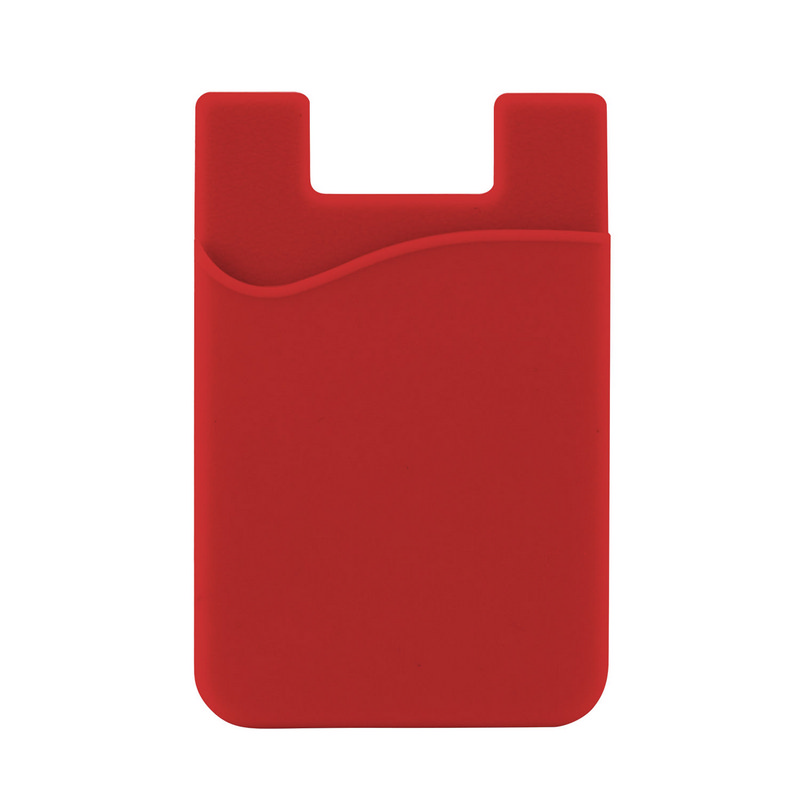 Silicone Phone Card Holder - Red C607R_MXM