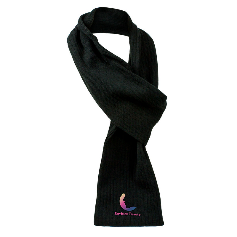 Cable Knit Scarf - Black