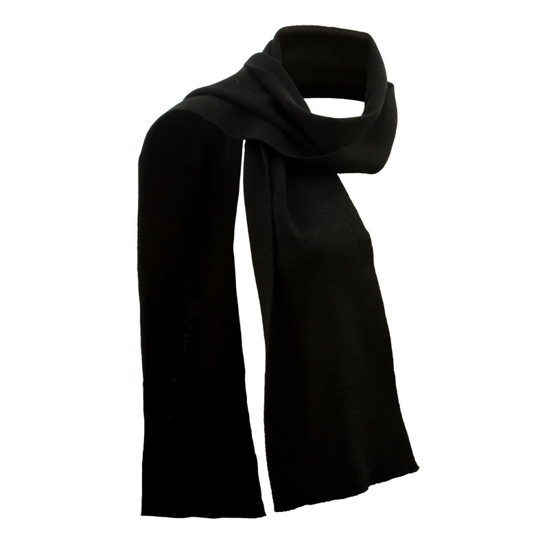 Black Merino Scarf