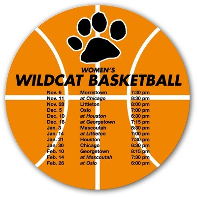 Basketball Sports Schedule Magnet - (printed with 4 colour(s)) HI-M17_QZ