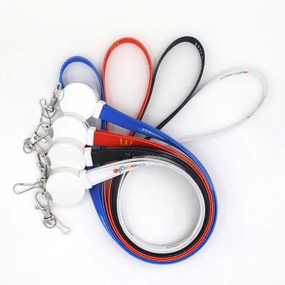 3-in-1 Polyester Charging Cable Lanyard