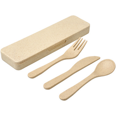 Bamboo Fiber Cutlery Set - BG