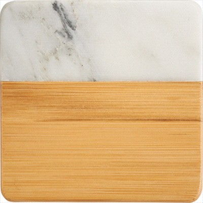 Marble and Bamboo Coaster - (printed with 1 colour(s)) 1425_RNG_DEC