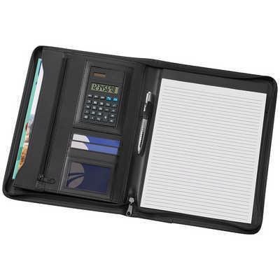 A4 Phoenix Zippered Compendium with Solar Calculat