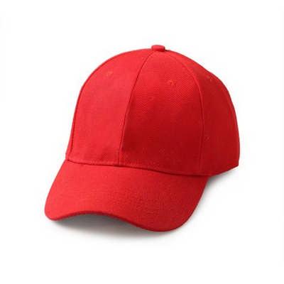 Red Brushed Cotton Baseball Cap