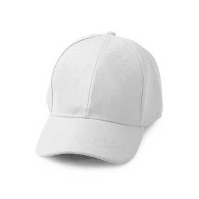 White Brushed Cotton Baseball Cap