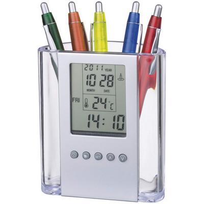 Alarm clock & pen holder