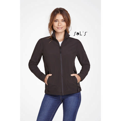 Race Womens Soft Shell Zip Jacket