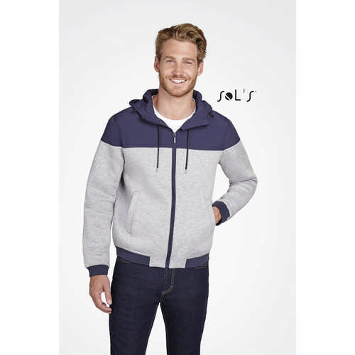 Voltage Unisex Two-Material Hooded Jacket