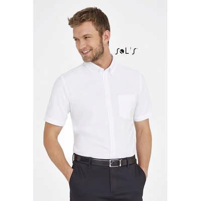 Brisbane Fit Short Sleeve Oxford Mens Shirt