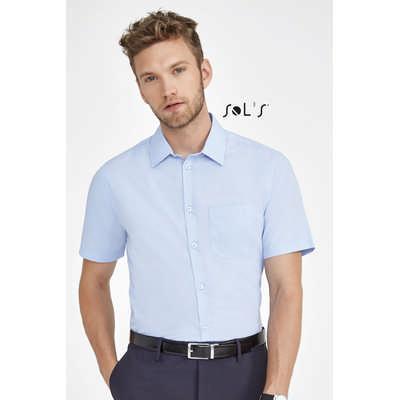 Bristol Fit Short Sleevepoplin Mens Shirt