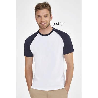 Funky Mens Two Colour Raglan Sleeve T-Shirt