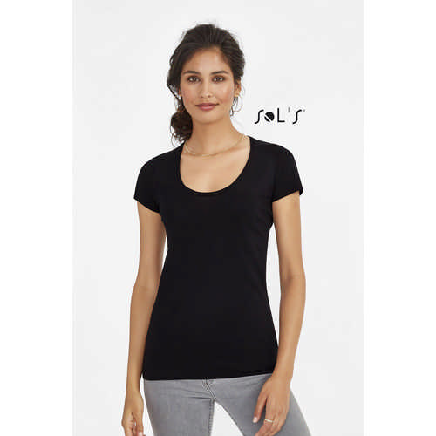 Must Womens Round Neck Sheer Jersey T-Shirt