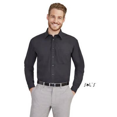 Baltimore Long Sleeve Poplin Mens Shirt