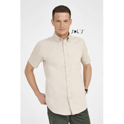 Brooklyn Short Sleeve Cotton Twill Mens Shirt