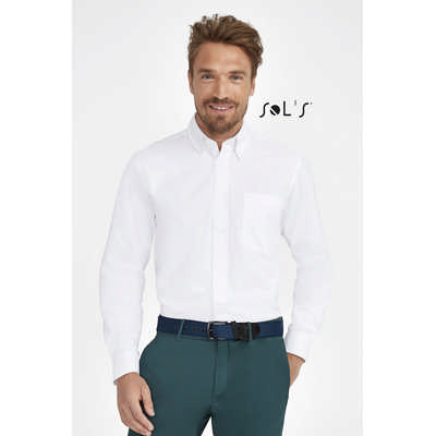 Bel Air Long Sleeve Cotton Twill Mens Shirt