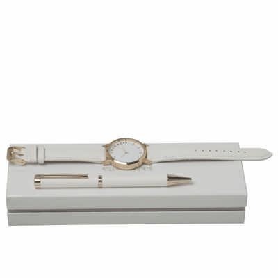 Cacharel Set Bagatelle Blanc (ballpoint pen & watc