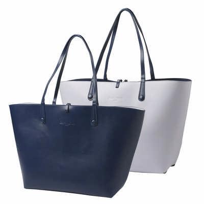 Cacharel Shopping Bag Tourbillon Reversible Bleu-L