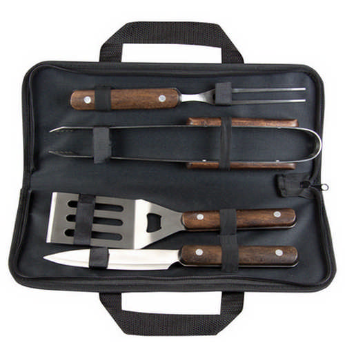Wooden BBQ tool set - (printed with 1 colour(s)) G1213_ORSO_DEC
