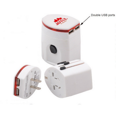 Lightup Universal Travel Adapter with USB