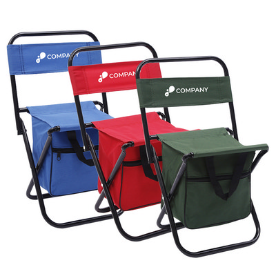 Foldable Camping Chair With Insulated Bag