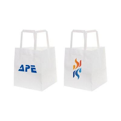 Flat Handle Kraft Paper Bag(150x150x170mm)