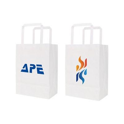 Flat Handle Kraft Paper Bag(175x110x240mm)