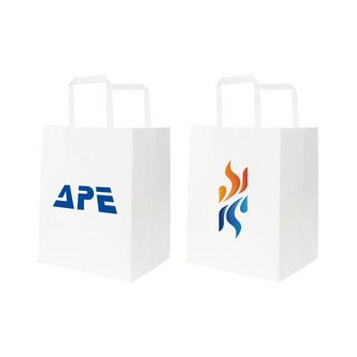 Flat Handle Kraft Paper Bag(215x165x265mm)