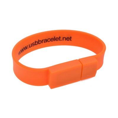 Rectangular Silicone Wristband Flash Drive