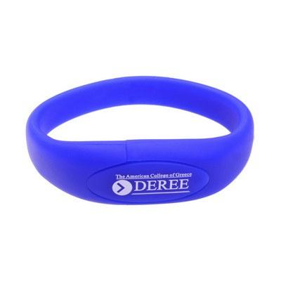 Oval Silicone Wristband Flash Drive