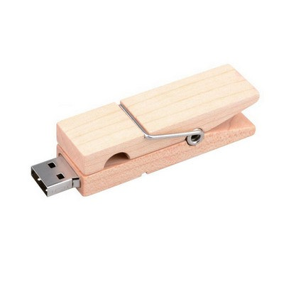 Wooden Clip Flash Drive