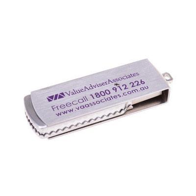 Metal swivel flash drive