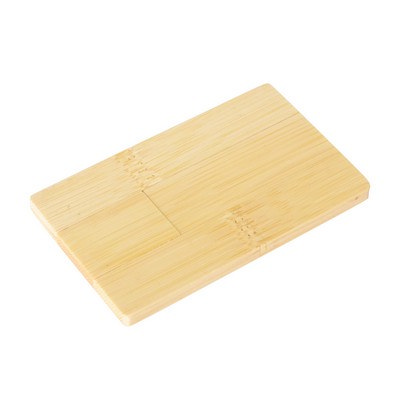 Wooden Credit Card Flash Drive