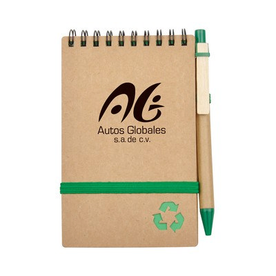 Recycled Notepad With Ball Pen