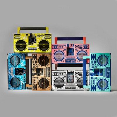Custom Cardboard Boombox