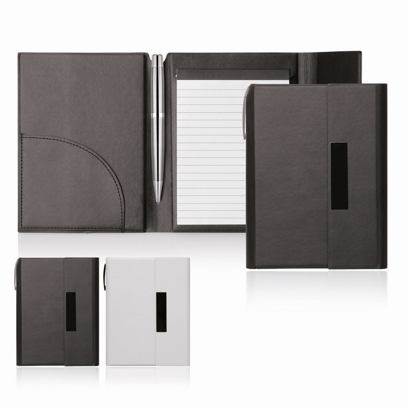 Notepad A6 Folder Magnetic Closure Elegance - (printed with 1 colour(s))  (C473_GL_DEC)