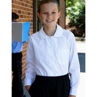 Girls Peter Pan Collar Long Sleeve School Shirt