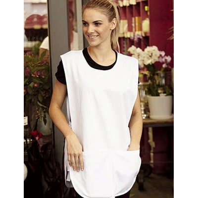 Cotton Drill Popover Apron - With Pocket