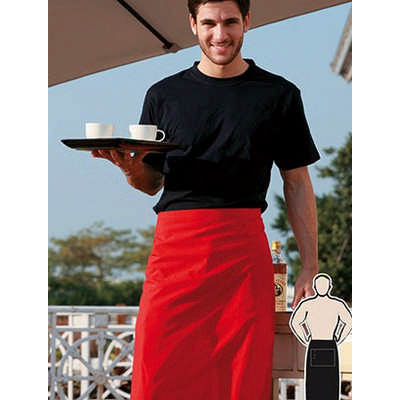 Polyester Drill Three Quarter Apron-With Pocket