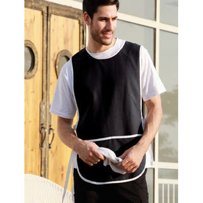 Polyester Drill Popover Apron - With Pocket