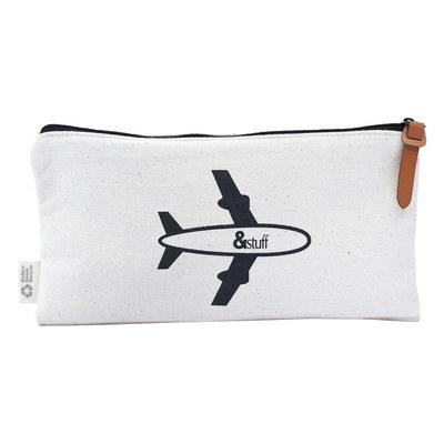 Calico Travel Pouch 12.5cm x 24.5cm