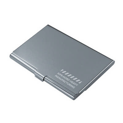 Dublin Aluminium Card Holder DISC - (printed with 1 colour(s)) C4704_PREMIER