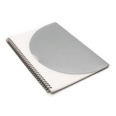 Curve Notepad - Large - Silver  (J0704_PREMIER)